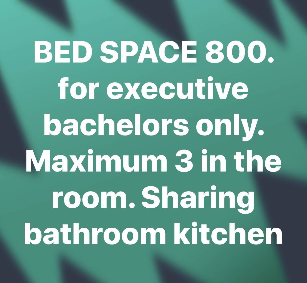 BED SPACE, ROOM
