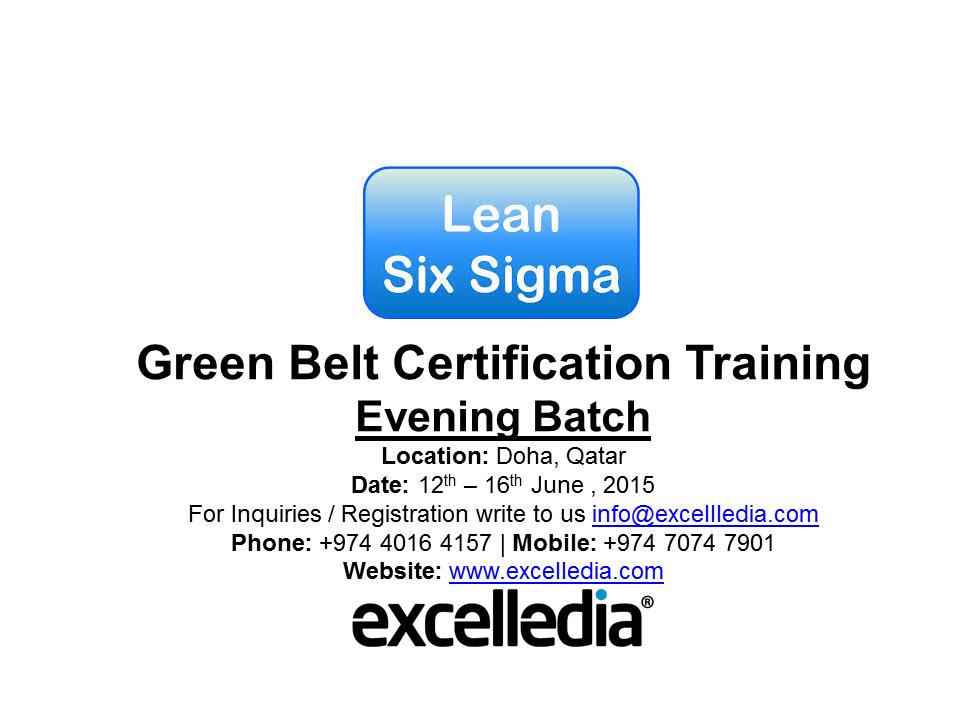 Lean Six Sigma Green Belt Training Qatar Living Events