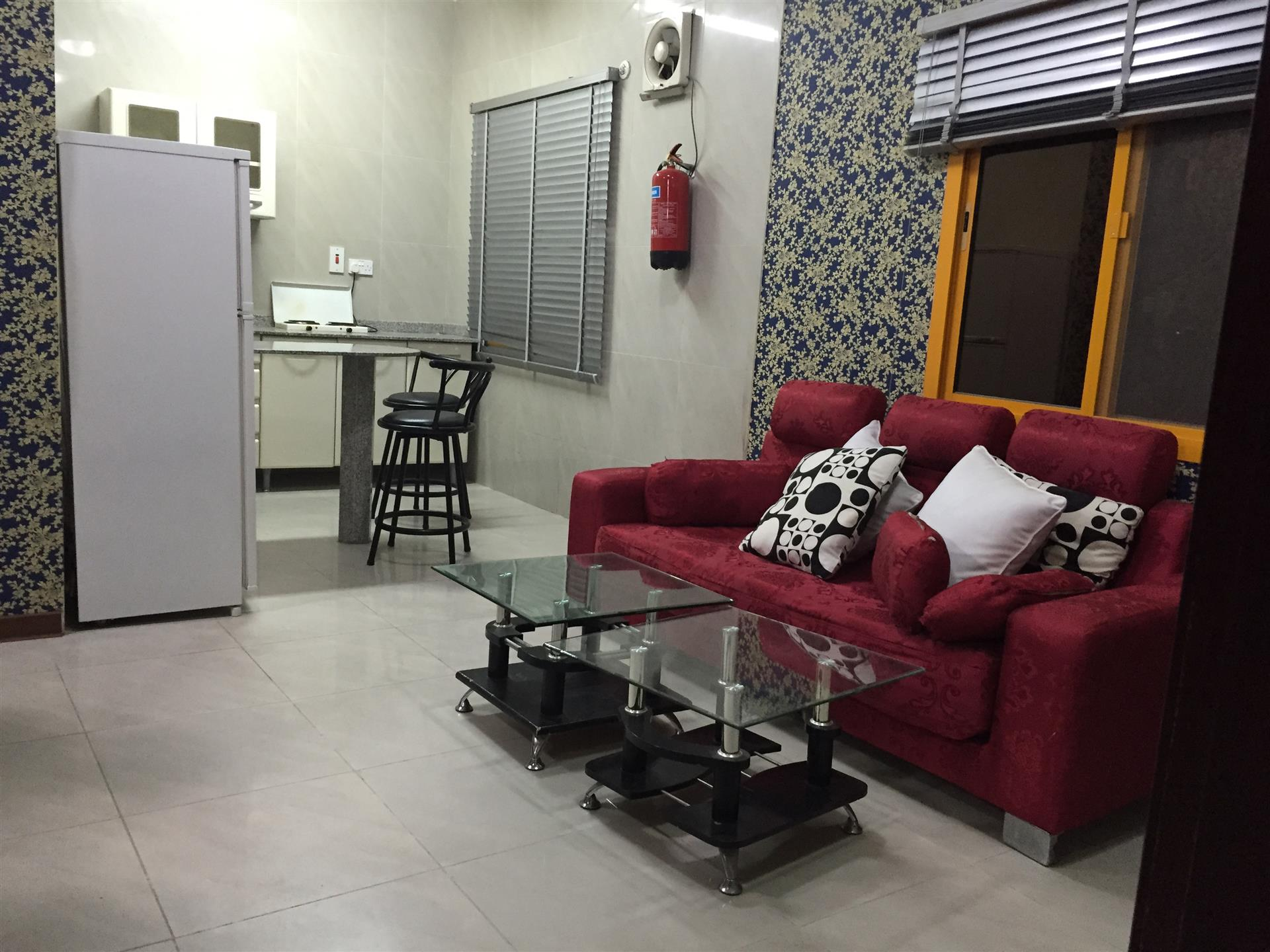 1 bhk flat for rent qatar living for Qatar living room for rent in matar qadeem