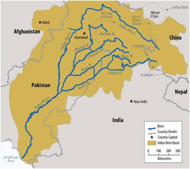 Water: A Lifetime of War between India and stan   Qatar Living on tigris river map, sea of japan map, brahmaputra river map, korean peninsula map, gangus river map, india map, yangtze map, amur river map, ganges map, hindu kush map, great indian desert map, tigris and euphrates map, godavari river map, krishna river map, mekong map, bay of bengal map, deccan plateau map, rio grande river map, malabar coast map,