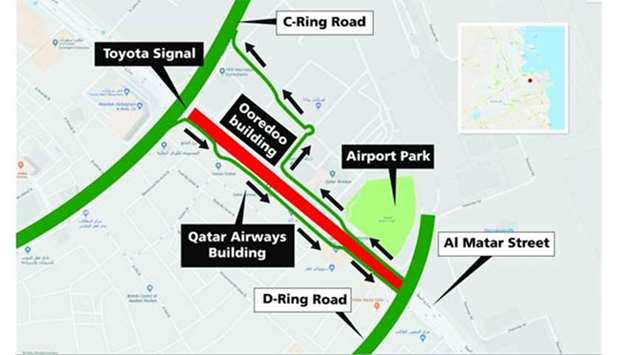 Al matar street to remain closed for 12 hours between thursday and during this period drivers can use the service roads on both sides of al matar street to move between the d ring road and c ring road and to reach the malvernweather Images