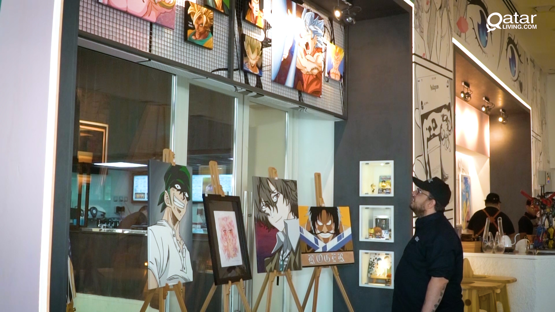Featuring a host of anime collectables and local artowrk for both sale and display the anime cafe pays homage to the anime greats including one piece