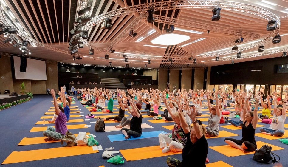 This is an image of the International Yoga Day 2019 event organized by Embassy of India in Bulgaria