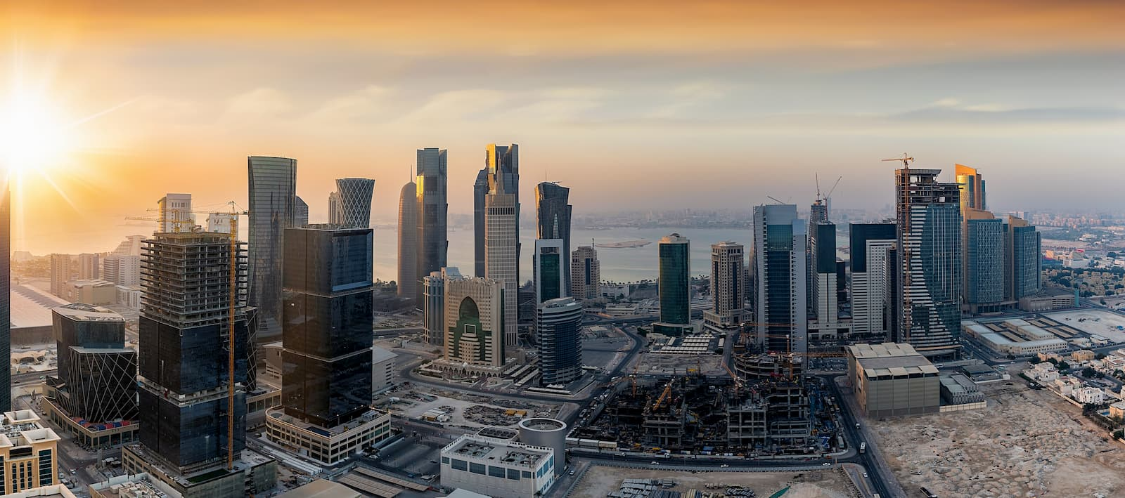This is an image of buildings in Qatar.