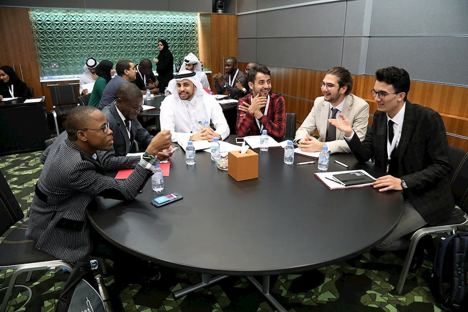 This is an image of young participants at the Doha Islamic Youth Forum.
