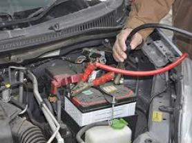 Car battery boosting(Jump Start)or Flat tire