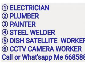 PLUMBER, ELECTICIAN, PAINTER ALL WORKS. 66858845