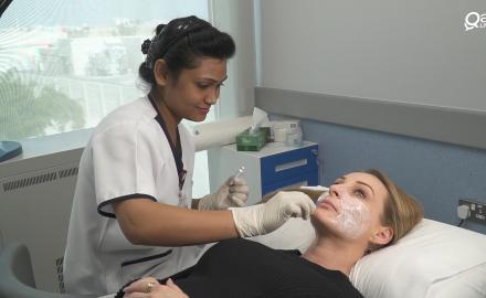 WATCH: QL tries Al Emadi Hospital's world class dermatology treatments
