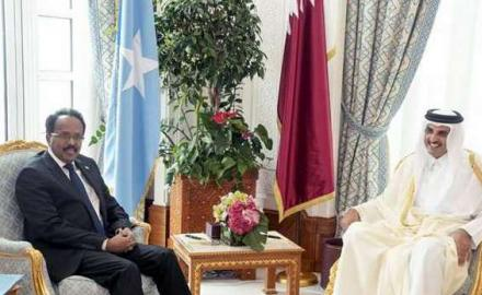 HH The Amir promises Qatar's support in balancing Somali budget, pledges QR73m