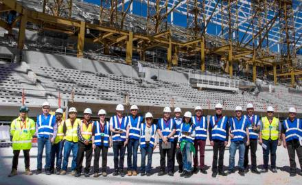 FIFA experts assess the progress of work at four proposed World Cup stadiums