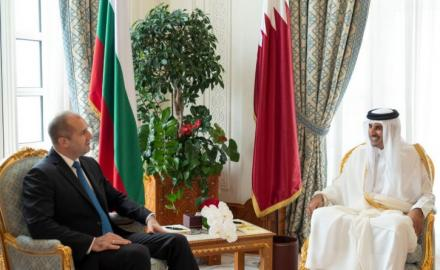 HH the Amir, Bulgarian President review bilateral ties