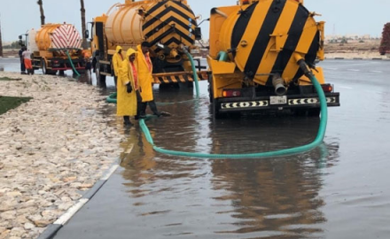 Emergency teams remove around 13 million gallons of rainwater