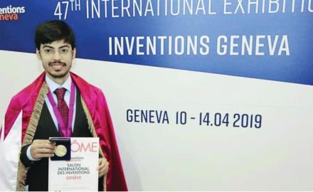 HBKU student gets gold medal in Geneva for innovative solutions