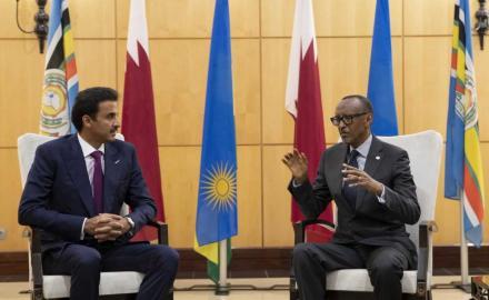 HH the Amir, Rwandan President hold talks, pledge to bolster ties
