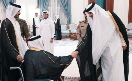 HH The Amir receives well-wishers on the advent of Ramadan