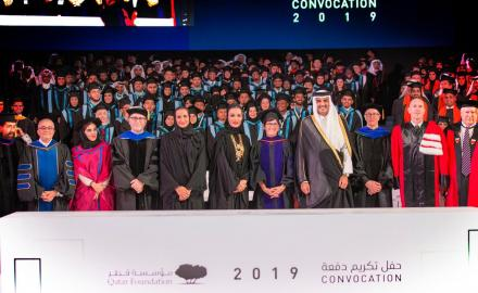 HH the Amir, HH Sheikha Moza grace QF Convocation 2019