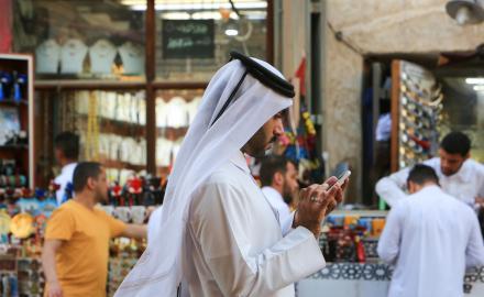 Qatar ranks first in the region in mobile internet speed