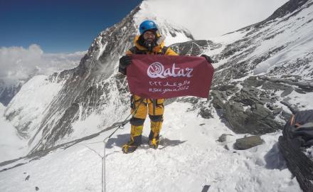 WATCH: Qatar's Fahad Badar becomes first Arab to scale Everest and Lhotse peaks in single journey