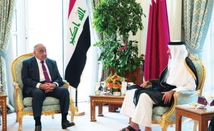 Amir, Iraqi PM review bilateral ties, sign MoU