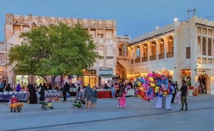 Eid al-Fitr celebrations at souqs draw large crowds