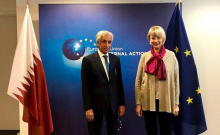 Qatar, EU pledge to promote peace, sustainable solutions to conflicts