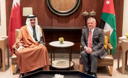 HH the Amir, Jordanian King review bilateral relations