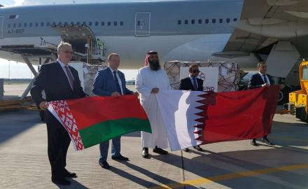 Qatar sends seven tonnes of COVID-19 relief aid to Belarus