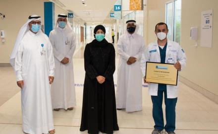 WATCH: Minister of Public Health meets recovered patients as Ras Laffan hospital discharges its last COVID-19 patients