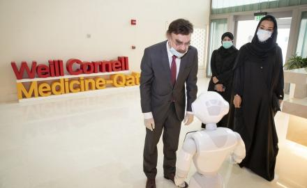 Sheikha Moza attends inauguration of WHO Collaborating Center in WCM-Q