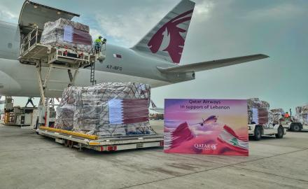 Qatar Airways delivers over 45 tonnes of essential supplies to Beirut