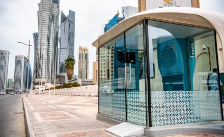 WATCH:Qatar Rail sets up 300 AC bus shelters around Doha