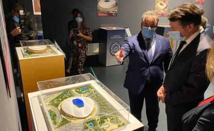 Qatar's Ambassador in France opens exhibition on FIFA World Cup 2022