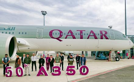 Qatar Airways takes delivery of three more Airbus A350-1000 aircrafts