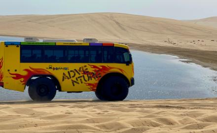 WATCH: QL Adventure Monster Bus tour in the desert