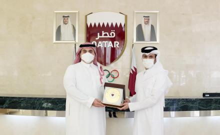 QOC Secretary General meets Vice-President of Saudi Arabian Olympic Committee