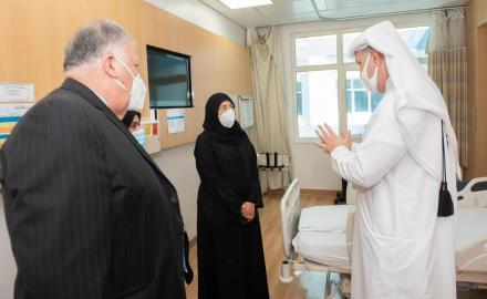 Health Minister visits Al Wakra Hospital following its designation as a COVID-19 facility