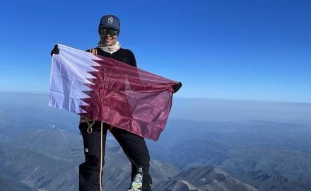 Sheikha Asma Al Thani conquers the summit of Mount Elbrus, highest peak in Europe