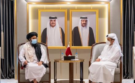 Qatar's FM meets Taliban delegation