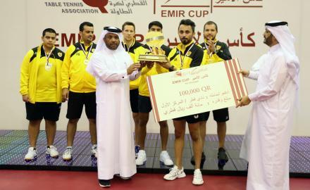 Qatar SC men's table tennis team claims all 2020-21 season trophies after HH Amir title win