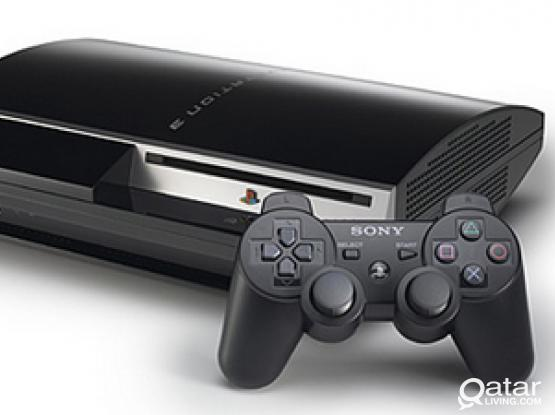PlayStation 3 (500 GB) with 2 Dual Shock3 Wireless Controllers and 3 Games