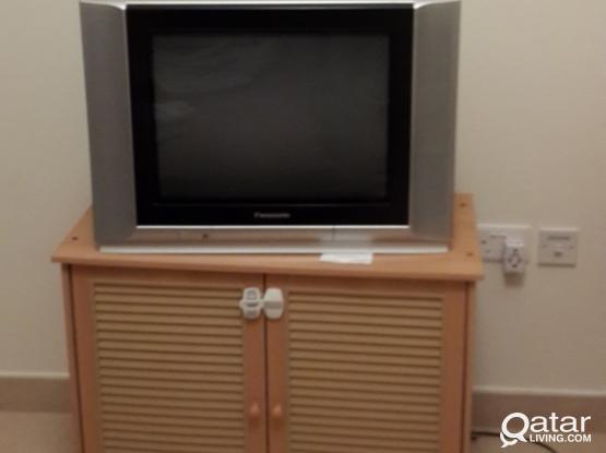 Panasonic TV + Humax Receiver + Cupboard