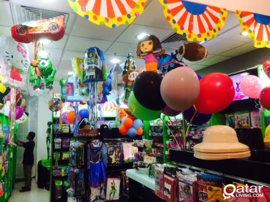 BIRTHDAY PARTY SUPPLIES AND DECORATIONS SERVICES