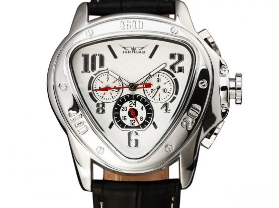 triangle face wrist watch