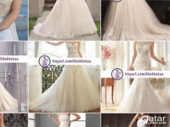 Custom wedding dress فستان عرس