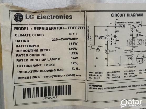 Wiring diagram for lg refrigerator lg refrigerator and nikai auto washing machine qatar living cheapraybanclubmaster Gallery