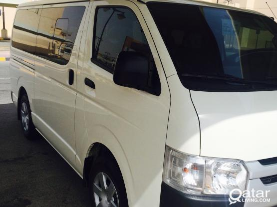15 seater van available for transportation