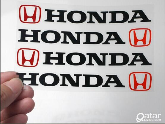 Car Door Handle Decal Sticker 4Pcs (Honda)