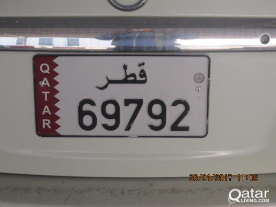 Fancy number 69792