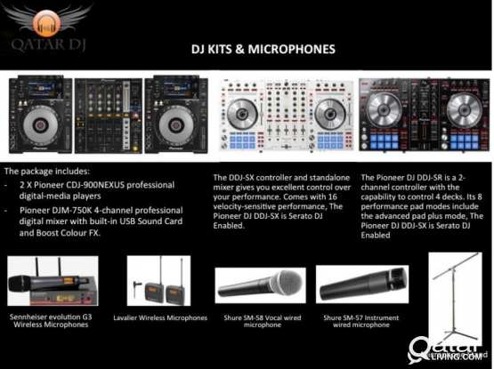 DJ kits and microphones for rent