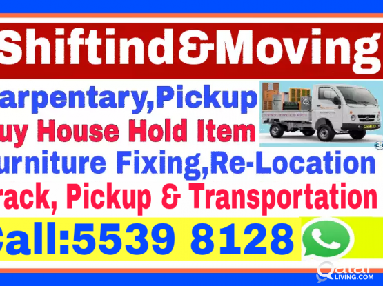 (Best Price) Shifting and Moving,Carpentery, Transportation, Truck and Pickup.